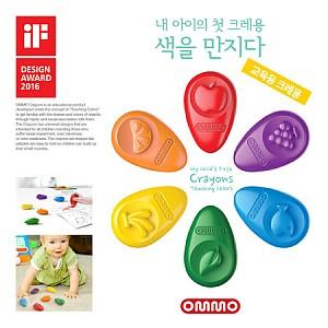 무독성 옴모베이비크레용 6색(교육용 크레용)